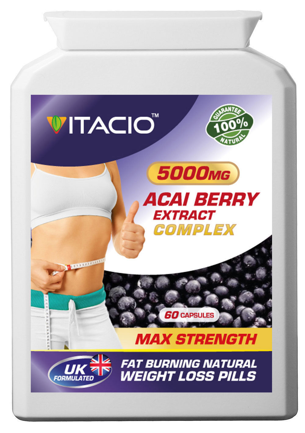 Acai Berry Extract 5000mg Complex Weight And 16 Similar Items