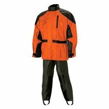 New Nelson-Rigg Aston Men's Rain Suit Medium, Orange Motorcycle - $99.99