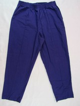 Women's Scrub Pants Crest Size M Elastic Waist 2 Pockets Purple - $9.08