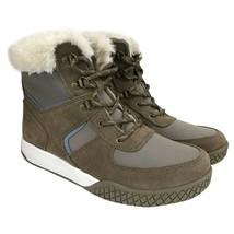 Weatherproof Vintage Chloe Tan Blue Suede Leather Faux Fur Sneaker Boot ... - $18.49