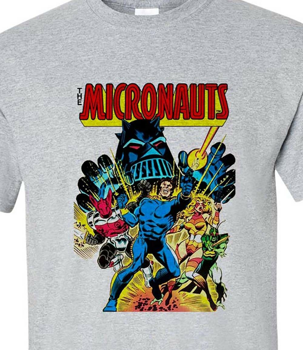 Micronauts T-shirt 80s retro comics toys graphic tee cotton blend graphic tee
