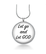Let Go and Let God Necklace - Religious Quote Pendant - Jewelry Gift for... - $18.32