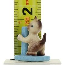 Hagen Renaker Miniature Cat Siamese Kitten with Scratching Post Ceramic Figurine image 2