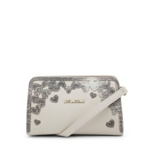 Love Moschino White Clutch with logo - $136.39