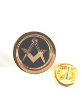 gold masonic no g Lapel Pin Badge / tie pin, Lapel Pin Badge gift boxed