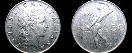 1955 Italian 50 Lire World Coin - Italy - $5.99
