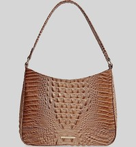NWT! Brahmin Nadia Morel Genuine Croc Embossed Leather Shoulder Bag - $149.24