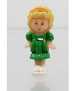 1991 Vintage Polly Pocket Doll Dream World - Polly (Green Dress/Orange H... - $7.50