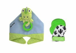 Munch Mitt the Original Mom Invented Teething Toy and 3 in 1 Buddy Bib- ... - $24.50
