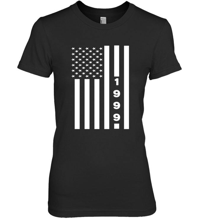 Primary image for American Flag 1999 19th Years Old Shirt 19 Birthday Gift