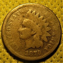 1870 Indian Head Cent - $45.00