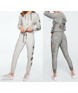 VICTORIA'S SECRET PINK BLING PERFECT FULL-ZIP HOODIE AND SKINNY JOGGER X... - $87.86+