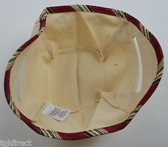 Longaberger Tinsel Basket Liner Natural Collectible Accessory Beige Red ... - $10.99