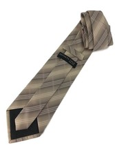 "New Kenneth Cole New York Silk Tie Brown Stripes Designer 57"" - $13.95"