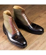 Rounded Cap Toe Magnificiant Leather Multi Color Lace Up Men High Ankle ... - $149.99+