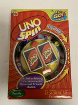UNO Spin To Go! Card Game Sealed Travel Car Plane Train Family Mattel 2009 - $56.09