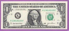2003A $1.00 Federal Reserve Note Dallas District KF block Run 1 K1301910... - $2.39