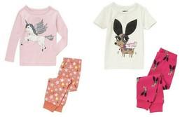 Crazy 8 by Gymboree Girls Cotton Assorted Prints Two-Piece Pajama Set Sz... - $15.16