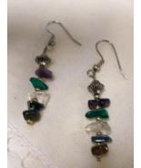 Gemstone Stick Earrings Handcrafted Custom Made OoaK Variety Genuine Sto... - $17.99