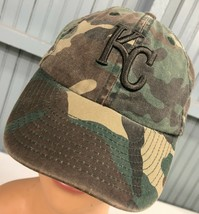 KC Kansas City Royals YOUTH Camo Strapback Baseball Hat Cap - $13.39