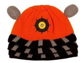 Doctor Who Orange Dalek Image Knitted Licensed Beanie Hat, NEW UNWORN - $11.64