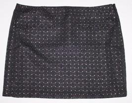 "Gap NWT Women's Black & Metallic Silver Jacquard Straight Skirt - 16"" - $41.03"