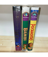 Disney Big Box VHS Lot Vintage Fantasia Bambi Pocahontas All New Sealed - £23.23 GBP