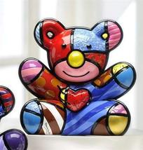 Romero Britto Cuddly Bear Design Figurine Rare Collectible