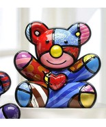 Romero Britto Cuddly Bear Design Figurine Rare Collectible  - $128.69