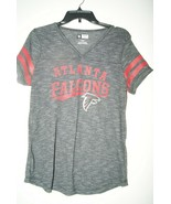 NFL Team Apparel Atlanta Falcons Women's Lightweight Tshirt Size M Gray - $14.25