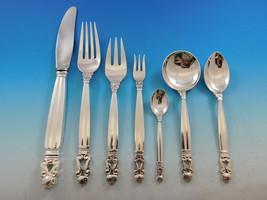 Acorn by Georg Jensen Sterling Silver Dinner Flatware Set 12 Service 89 ... - $7,565.00