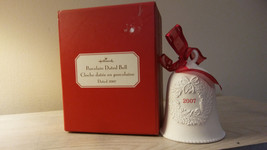 Collectible  4 inch   Hallmark Ornament ~ Porcelain Dated Bell Dated 2007  - $5.15