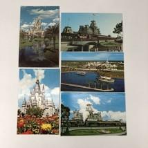 Lot Of 5 Vintage Disney Disney World Post Cards Unstamped Magic Kingdom - $8.38