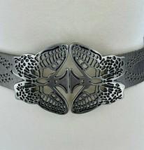 Fossil Butterfly Stretch Belt w/ Silver Interlocking Buckle Women's Smal... - $24.14