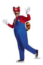 Disguise Men's Plus Size Super Mario Raccoon Deluxe Costume, Red, XXL - $45.00