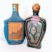 Vintage Jim Beam whiskey 1968 Blue Whistler's Mother and 1973 Chopin bottles - $58.04