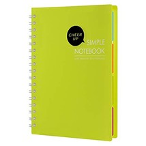 "Cheerup Spiral Notebook, B5 10"" x 7"", 4 Subjects with Divider, 240 Pages... - $15.25"