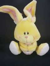 """Mattel Emotions Plush Bunny Rabbit Yellow Holding Easter Egg With Tags 11"""" - $18.80"""