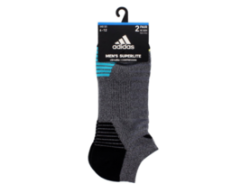 Adidas Superlite Climalite Compression 2 pair No Show Cut Socks Men's sz... - $18.74
