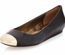 Sam Edelman Sz 9.5 M Black Crocodile Ballet Flats Shoes Women's - $29.69