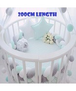 Baby Bed Bumper Pure Color Weaving Plush Baby Crib Protector For Newborn... - $48.65