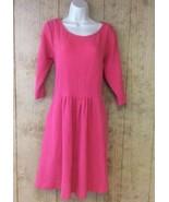 Matilda Jane Coral Pink Textured Dress 3/4 Sleeve Sz XL Friends Forever ... - $39.59
