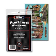 100 BCW Soft Regular Postcard Sleeves Lot 1 Pack Poly Protect Storage 3x... - $98.97