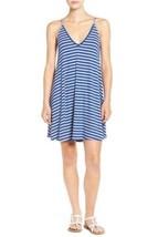 Lush Nordstrom Stripe Rib Knit Tank Dress Socialite Blue & Ivory Sz XS N... - $18.22