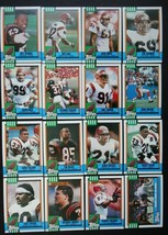 1990 Topps Cincinnati Bengals Team Set of 16 Football Cards - $2.99