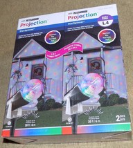 2 Pack Gemmy LED Swirling Lightshow Projection StarSpinner Red Green Blu... - $25.60