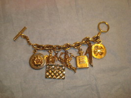 "Authentic Rare Vintage Chanel Gold Tone Iconic ""Lucky Charms"" Charm Bracelet EVC - $1,534.49"