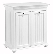 Double Tilt-Out Hamper Home Laundry Storage Beadboard Panel Birch 26 in.... - $177.42