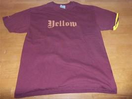 Mens Xl Nike Burgandy Short Sleeve Graphic Yellow T-SHIRT AX2258 - $5.00