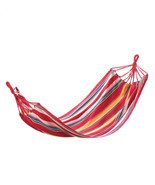 Striped Hammock Cotton Polyester Material Patio Furniture Hanging Swing ... - $34.60
